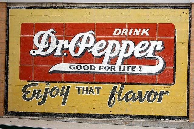 Dr Pepper Drink Vintage Sign