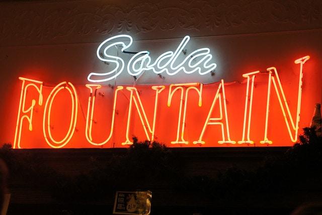 Neon Soda Fountain sign