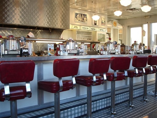 classic 1960s soda fountain cafe