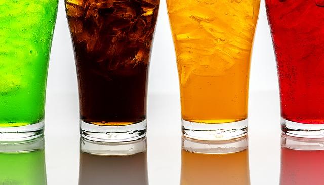 4 different soda flavors