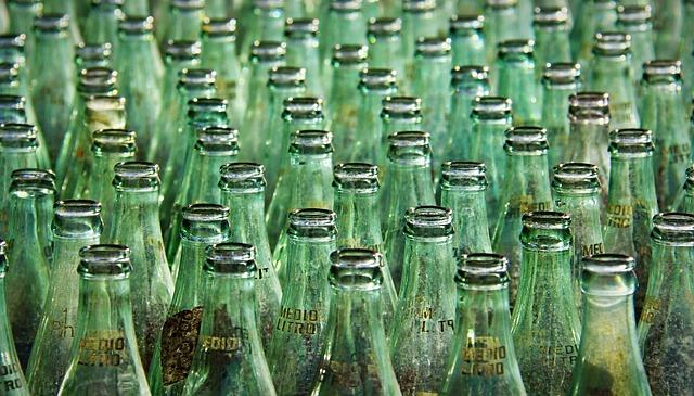 regular glass soda bottles