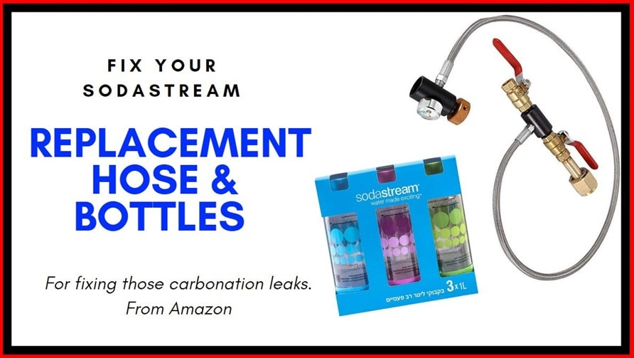replacement sodastream hose and bottle pack amazon
