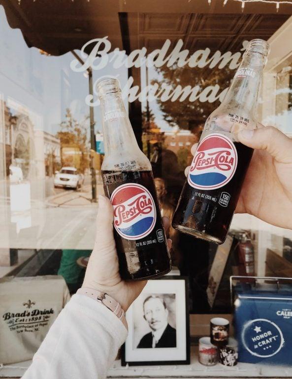 old pepsi cola soda bottles