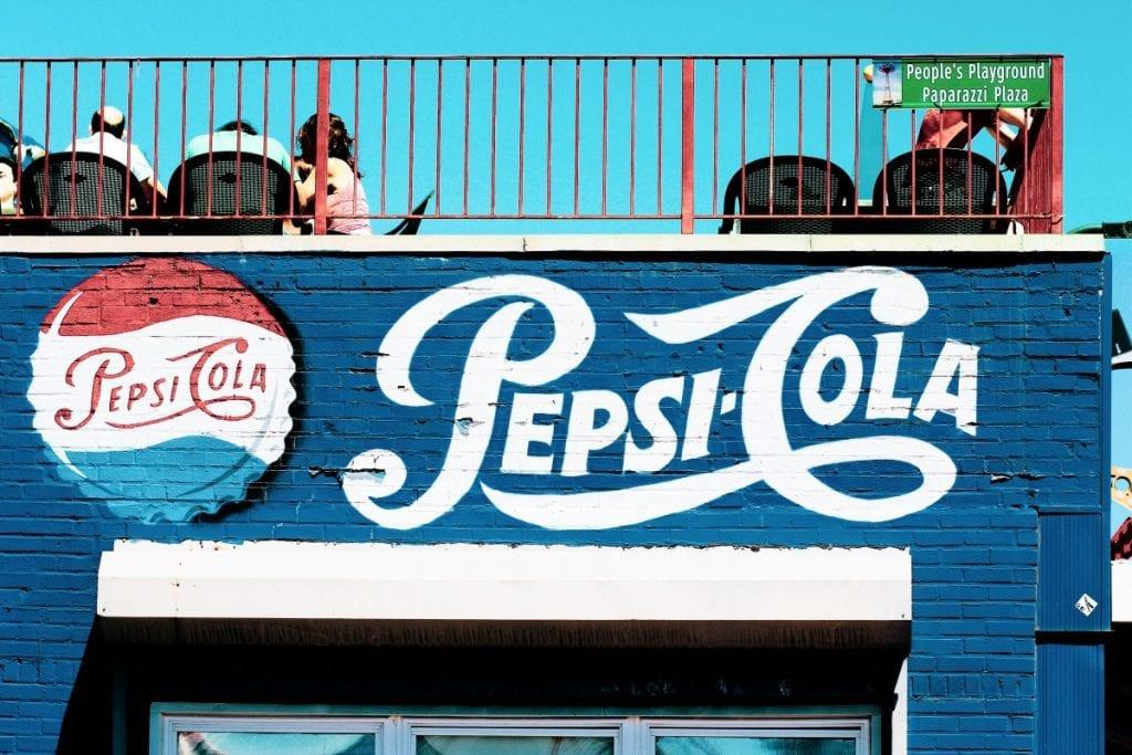 pepsi cola sponsorship mural