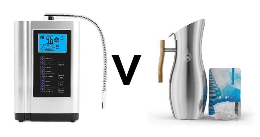 What is the difference between an Alkaline Water Machine and an Alkaline Water Pitcher