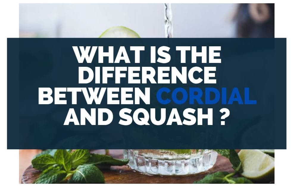 what is the difference between cordial and squash