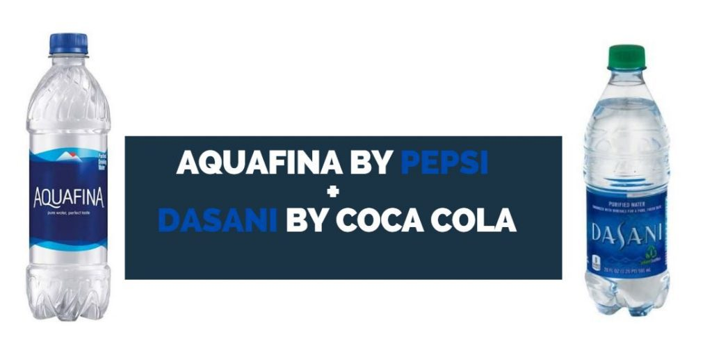 aquafina vs dasani bottled water