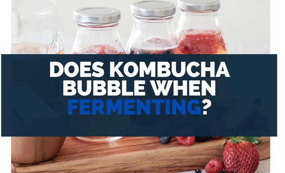 does kombucha bubble when fermenting