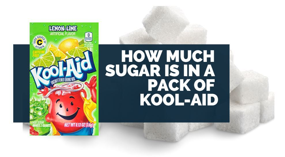 how much sugar is in a pack of kool-aid