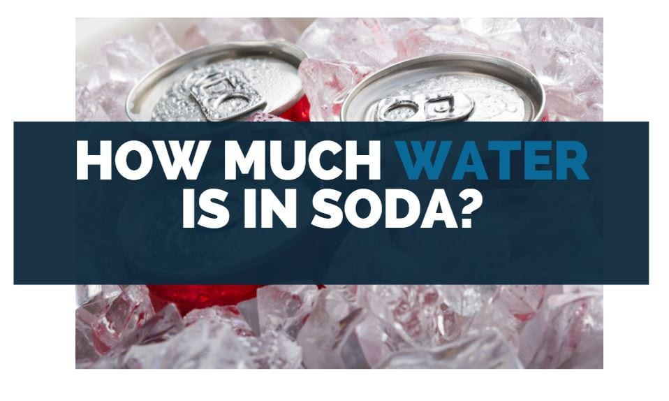 how much water is in soda