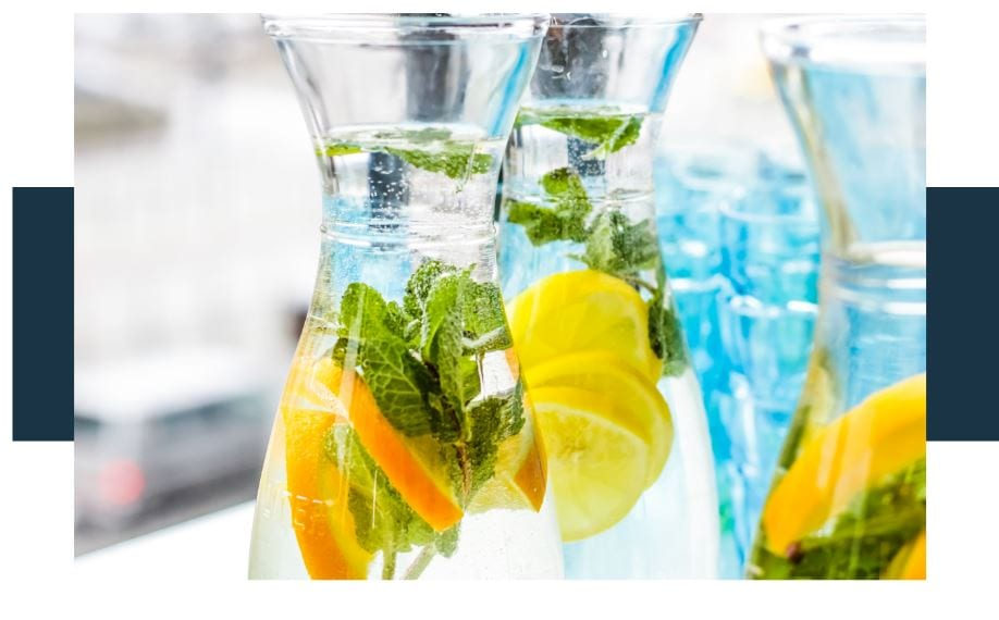 making flavored water an alternative to soda