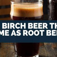 Is Birch Beer The Same As Root Beer