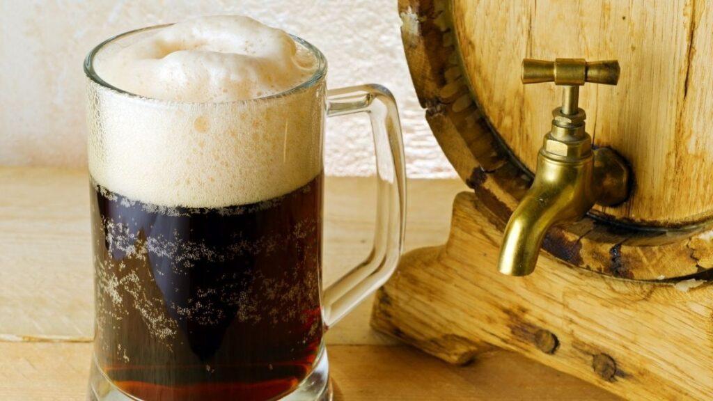 Is root beer made in barrels